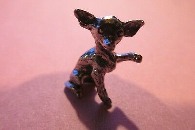 Pewter  Chihuahua  Dog Figurine