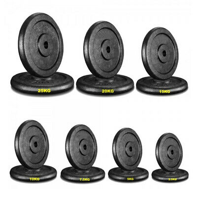 """1"""" Round Cast Iron Weight Plate Discs for Dumbbells Barbells Weight Lifting Bar"""