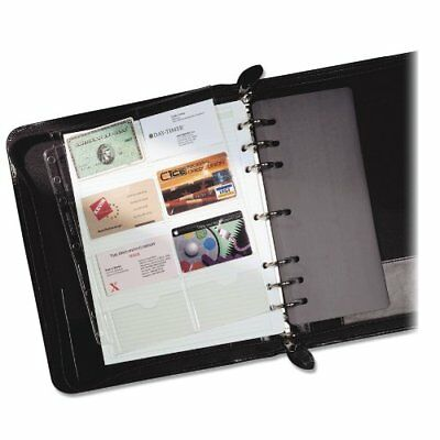 Day-Timer Business Card Holders for Looseleaf Planners, 8.5 x 11 Inches, 5 per