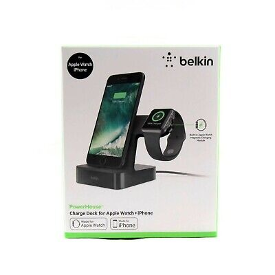 Belkin Charge Dock Powerhouse For Apple Watch Iphone X 8 7 6 6S Plus F8J200Aublk
