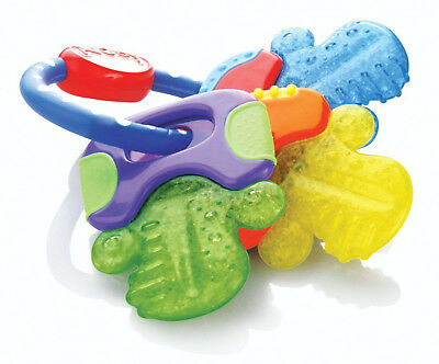 Hard & Soft Teething Keys For Baby Toddler Ring Toy Teether Soother BPA Free NEW