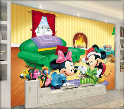 Polite Refined Mouse 3D Full Wall Mural Photo Wallpaper Printing Home Kids Decor