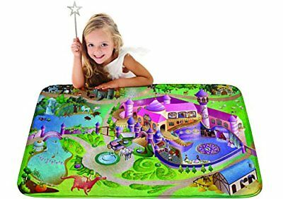 "Children Learning Carpet Kids Ultra Soft Play Mat 39""x59"" Princess Castle Design"
