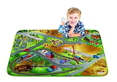 "Children Learning Carpet Kids Ultra Soft Play Mat 39""x59"" City Building Design"