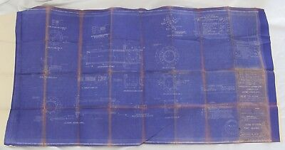 1943 Bureau of Ships Blueprints 100 Ft Harbor Tug Detail of Stern Tube Bearing
