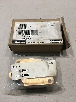 Parker Sub Base K022098 New in the box