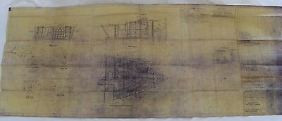 1945 Bureau of Ships Blueprints 100Ft Harbor Tugs Arrangement of Crew's Quarters
