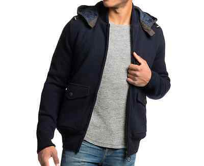 Barbour Chirdon Men's  Sweater Jacket Navy Size Large L (42-44) MSRP $379