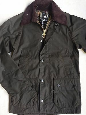 Barbour Men's Classic Bedale Waxed Jacket - Olive, Size 30    MSRP $379