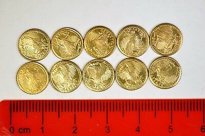 (10) Mini - St. Gaudens Tokens  K2639