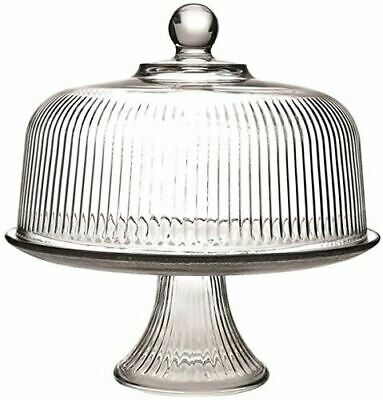 Anchor Hocking 86031 Monaco Cake Set with Ribbed Dome