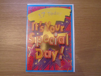 Sealed Happy 17th Birthday 17 Today Greeting Card Special Day Bright (219)