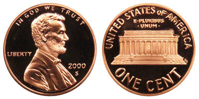 2000 S Lincoln Memorial Cent Gem Deep Cameo Proof Penny Hand Selected from Roll