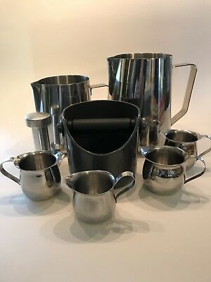 Lot Barista Espresso Frothing Brew Pitchers Knock Box Tamper
