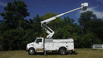 2004 Sterling 45' Bucket Boom Truck Articulating & Telescopic AC Utility Service