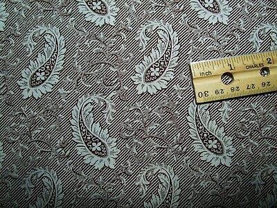 """Antique Fabric 19c Madder Paisley 24 1/2"""" selvages x 33"""" Dolls Quilt"""