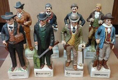 McCormick Whiskey Decanter Gunfighter Complete Collection - Set Of 8 In Boxes