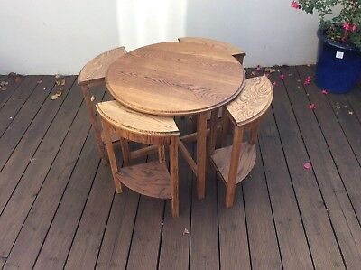 Beautiful Art Deco Nest Of 5 Tables.