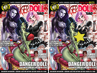 Danger Doll Squad #0 - Jamie Tyndall Ltd Edition 2 Cover set (Regular & Risque)