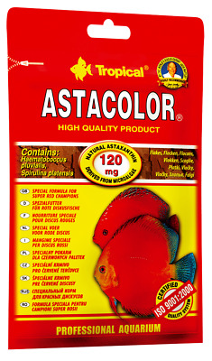 "Fish Food""tropical"" Astacolor - High Quality Color Enhancing Flake  +Free Gift"