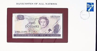 NEW ZEALAND - 2 DOLLARS 1981-85 (ND) - P170a  UNC BANKNOTES OF ALL NATIONS  7470
