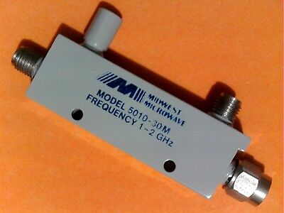 MIDWEST MICROWAVE 5010-30M 30db 1-2 GHz DIRECTIONAL COUPLER FREE US SHIPPING NOS