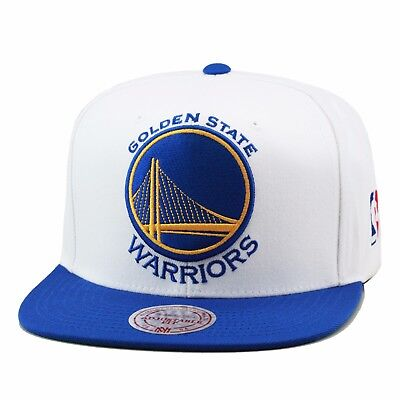 quality design 9813f d0a3e Mitchell   Ness Golden State Warriors Snapback Hat Cap WHITE Royal XL Size  Logo