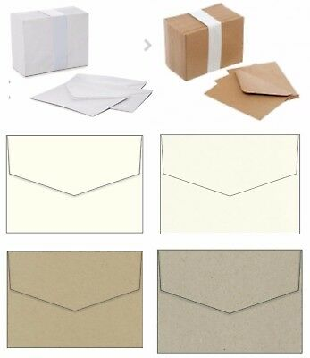 MINI ENVELOPES small white kraft brown ivory cream metallic wedding RSVP cards