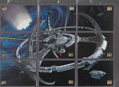 Set Of Star Trek Assorted Space Ships Skybox Trading Cards Tv Movie Sci-Fi Lot 3