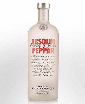 Absolut Peppar Flavoured Vodka (750ml)