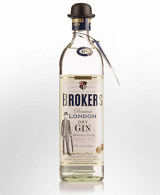 Brokers 47% London Dry Gin (700ml)