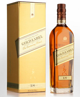 Johnnie Walker Gold Label The Centenary Blend 18 Year Old Blended Scotch Whis...
