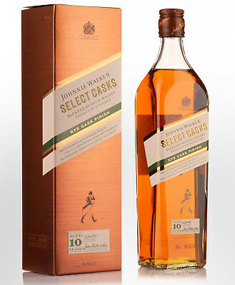 Johnnie Walker Select Casks Rye Cask Finish 10 Year Old Blended Scotch Whisky...