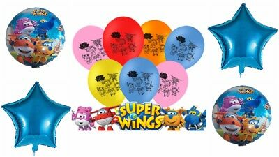 Super Wings Latex / Foil Kids Balloon Birthday Party Superwings Decorations-
