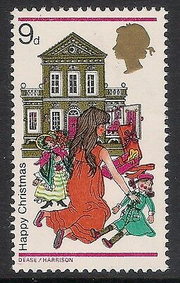 GB 1968 sg776Ey 9d Christmas Phosphor Missing / Omitted Error MNH