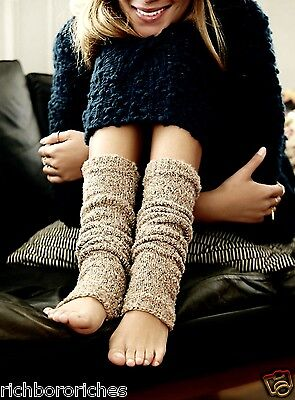 NWT Free People taupe Marled Textured Knit Leg Warmer O/S