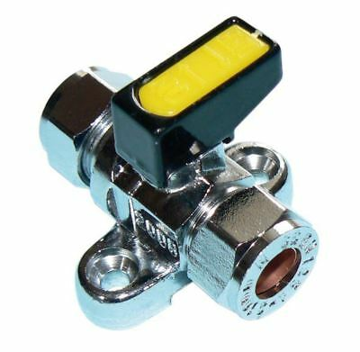 Metrogas 8mm Mini Lever Gas Ball Valve with Backplate - PACK OF 2