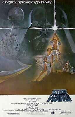 "New Star Wars 1977 * Style-A 27x40"" Reprint One Sheet Movie Poster"