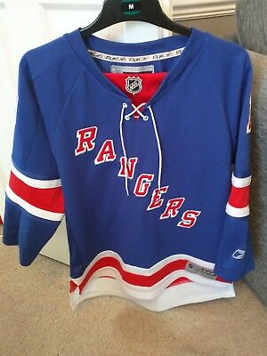 NHL New York Rangers Ice Hockey Shirt Jersey Top size Youth L/XL