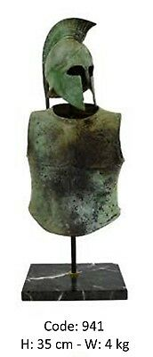Ancient Greek Spartan Bronze Armor And Helmet Museum Replica