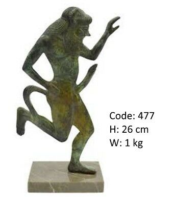 Ancient Greek Bronze Statue Of A Satyr Museum Replica