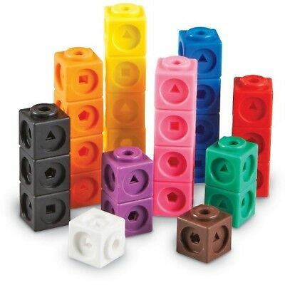 All Link Cubes 2cm 100p Maths Teacher Resource Linking Interlocking Snap 3D