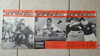 RUGBY WORLD MAGAZINES x3 1960 IN GOOD COMPLETE CONDITION OCT-NOV-DEC