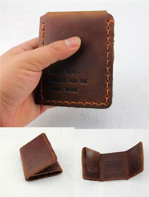 Walter Mitty Vintage Brown Wallet Handmade Real Leather Card Holder Money Case