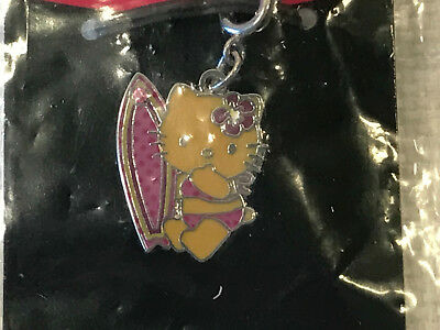Rare Hello Kitty Surf Surfboard Tan Charm, 2005, NEW IN PACKAGE