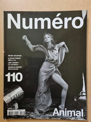 Magazine mode fashion NUMERO french #110 février 2010 Animal