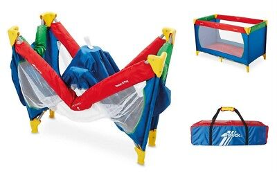 Hauck Childs Retro Portable Dream N Play Baby Travel Cot Playpen With Mattress
