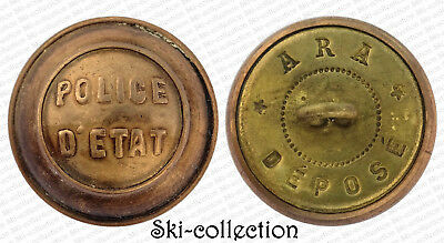Bouton POLICE D'ETAT. France, XX°s. 22,5 mm
