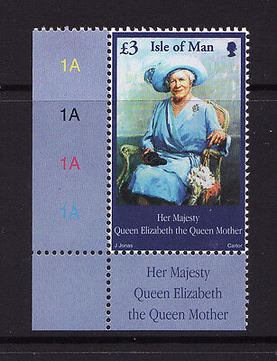 2002 Isle of Man, Queen Mother £3 High Value, NH Mint Stamp, SG 982