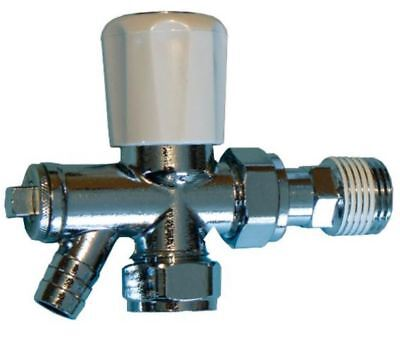 10mm Radiator Valve With Draw Off - Optima Plus - PACK OF 2